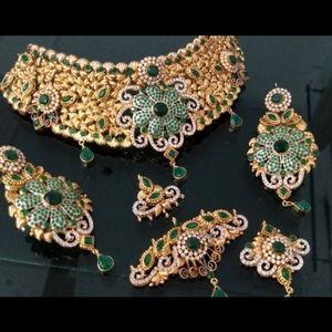 Goldplated bridal set